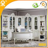 (1 study table +5 pcs bookcase )European modern white home Reading room furniture  CE-FI-02
