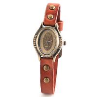 Women's fashion retro vintage dress wristwatch 2014 antique design westen style clock genuine leather strap quartz watch JW1697