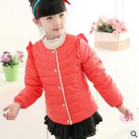 CS045 Free Shipping Hot sale designer clothing Girls warm jacket kid down coat children fashion & casual clothes Retail