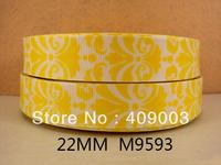 10Y9593 kerryribbon free shipping 7/8 '' printed ribbon Grosgrain ribbon