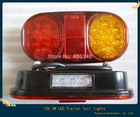 Hot ! 12v 3w truck car tail trailer led lights turn signal lamp tail trailer lights tractor trailer taillight lights