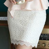 Fashion Hollow out crochet Lace Pencil Skirt Office Ladies M-5XL Plus size Women Skirts