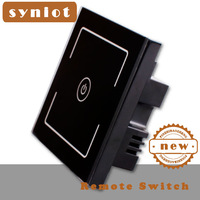 Syniot Smart, remote touch switch, 1 gang Black glass touch Led Switch, luxury Led  sensor 86 style touch switch, Discount