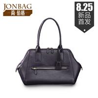 Bolsas Real New Arrival Freeshipping Silt Pocket Hard Women Handbags 2014 Women's Cowhide Handbag Brief Solid Color Shoulder Bag