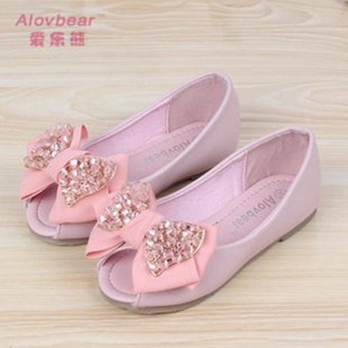 Hot nova primavera crianças sapatos da moda único sapato plana alta princesa escola sapato menina tecido de qualidade sapatos bowknot(China (Mainland))