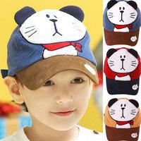 kids Peaked cap ! boys hats girls hats children spring autumn hat cartoon cat visors  ETJ-A0165
