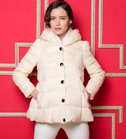 Ribet but Iraq 2014 new winter jacket stitching loose hooded down jacket women in Europe and America NDZ130 Y9W