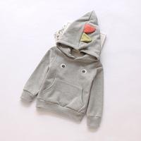 Unisex 2014 New girls boys autumn cotton hoodies children fashion sweatshirts dinosaur pattern 3 colors 5 pcs/lot wholesale 1752