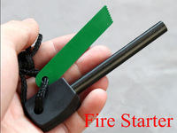 5pcs/lot Survival Magnesium Flint Stone Fire Starter Lighter Fire Maker Flint Rod Stell Outdoor Camping Kits