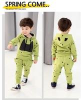 Children's clothing autumn female child autumn 2014 child casual sports sweatshirt long-sleeve child set