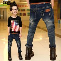 Children's clothing boy autumn clothes The boy children jeans pants pants han edition, Beckham's 2014 new tide