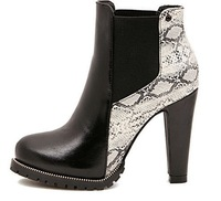 Fashion boots mixed colors  brand ankle boots  women boots shoes winter 2014