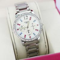 2014 Latest Style Women Watches Luxury Women Dress Watches Fashion Steel Strap Quartz Wristwatch Rhinestone Watch Drop Shipping