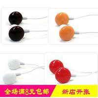 Cartoon candy earphones ear mp3 notebook mobile phone earplug