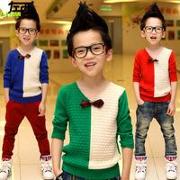 Autumn outfit boy knit sweater children set of big boy David 2014 new tide