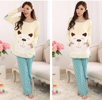 High quality cotton clothing set for maternity long sleeve character patchwork stars patterns printed lounge for autumn/winter