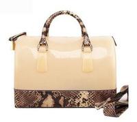 FURLY Brand Snake Print Jelly Bag for Women Candy Handbag Fashion Women Shoulder Bag Beach Women Messenger Bag Wholesale