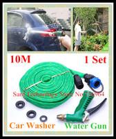 Free shipping 1 Set 10M Pipe Car wash water gun copper portable high pressure Vehicle washing gun rinse Cleaning Spray Hose tap