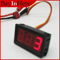 Digital Voltmeter Board DC 7-20V 0-99.9v Voltage Red LED Digital Panel Volt Meter Car Motor tester+ Tracking Number