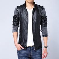 Fall 2014 new jackets fashion men's coats of high-grade PU jacket M-5XL