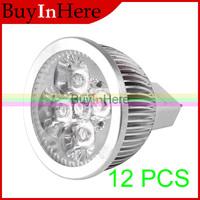 20PCS Energy Saving 4W 4x1w Cool/Warm White Light Lights Spotlights MR16 High Power focus LED spot Lamp Bulb 12V