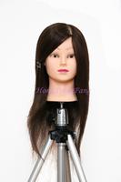 "Professional Training Head Hair For Curl Hairdress 18"" Natural Black 90% Human Hair Training Mannequin Head With Human Hair"