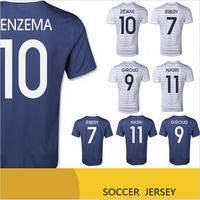 Top A+++ 2014 POGBA  RIBERY BENZEMA NASRI soccer jersey Grade Original thai quality football jersey soccer shirt