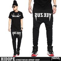 Hot New Arrival Yeezus Sport Pants 2014 Hiphop Mens Pants Casual Sweatpants for Men Plus Size 3xl Wholesale Drop Shipping