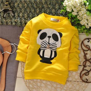 2014 spring unisex boys panda Хлопок baby Детский sweatрубашка 1pcs KT160R