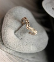 G095 Free shipping hot 2014 new mix wholesale Fashion Cute New Design Full Shiny Heart V-shaped Rhinestone Women Jewelry Gift