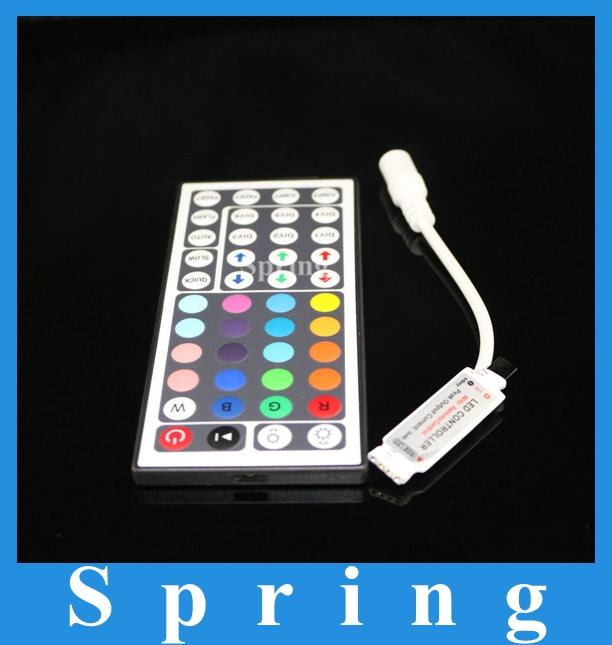 1pcs free shipping New 12V 6A 44Key MINI IR Remote Controller for SMD 3528 5050 RGB LED SMD Strip Lights(China (Mainland))