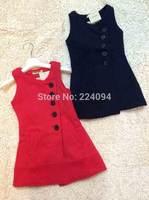 Free shipping 2014 kids plaid dress  princess dress girls  fall & Winter short-sleeve dress fashion  baby dress for 1-6years old