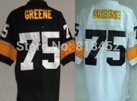 Free shipping 2014 new mens American football jerseys Pittsburgh #75 Joe Greene Elite Stitched Jersey