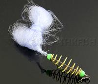 10Pcs Trolling Net Carp Fishing Trap Copper Spring Shoal Trawl Fishing Net Netting Luminous beads Swivel connector