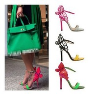 New! 2014 new fashion high heels woman butterfly wings
