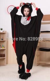 Flannel Winter bat cartoon Animal Pajama Sets Women and men Couple Household Clothes Family Women Sleepwear S M L XL(China (Mainland))