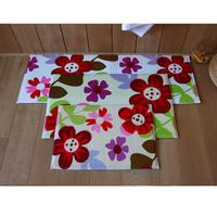 1set=3pcs living room mat set anti-slip kitchen rugs memory foam doormat free shipping