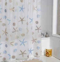 Promotion2013 NEW ! 180*180cm PEVA Waterproof Fashion Star Bathroom Shower curtain