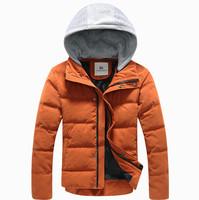 Hot sale free shipping men hooded collar winter coat mens parka coats down cotton jacket 4 color M-XXL