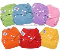 7 Colors random delivery plush linning New Unisex Adjustable Baby Infant 100pcs/lot Nappy/Cloth Diaper Reusable Washable Cloth