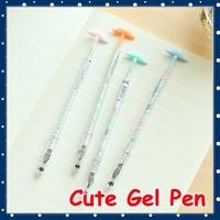 [FORREST SHOP] Kawaii Korean Stationery 0.38mm Novelty Mustache Pens For Kids / Korean Cute Gel Pen Black Ink Color UP-8114