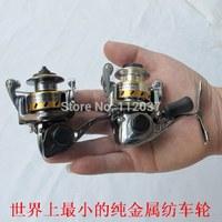 Mini Wheels Smallest Full-Metal Rock Fishing Reels palm-sized Fish Wheel Ferry Feet With Fountain Pen Fish Wheel multipurpose