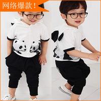 Clearance processing a generation of fat suit for children Korean boy cartoon panda suit children sports suit