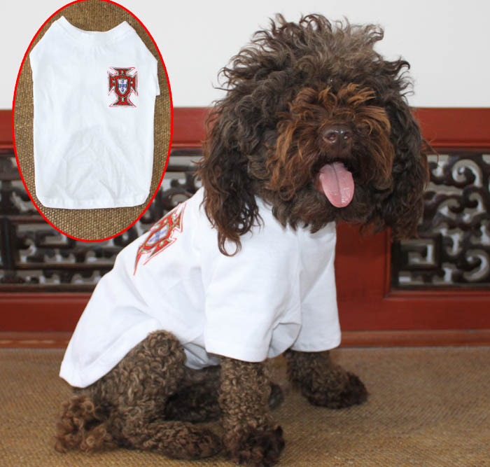 free shipping fashion Pet dog clothes Dogs short sleeve t-shirt pet casual shirt dogs sports soccer jersey 1 pcs/lot(China (Mainland))