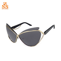 Hot Selling Famous Brand Simple Design Sunglasses,Street Shooting Star Gafas De Sol,Butterfly Style large Size Sonnenbrille.G347