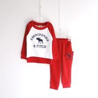 New! Children Girls Boys Hoodies Set  Grey Baby Kids Girls Boys Outwear Jacket Sweatshirts Set Hoodies+Pant 83032