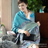 Wholesale 2014 new cotton scarves large ethnic bohemian longer warm shawl