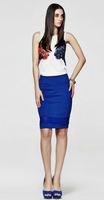 Womens tops fashion 2014 imported clothings blusinha de verao animal print chiffon white blouse Free shipping