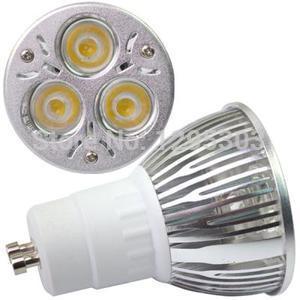 High Power GU10 3X2W 6W 3 LED Spot Bulb Lamp Light 60 Warm White AC85~265V A896 w6osL8(China (Mainland))
