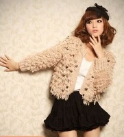 Fashion 2014 new arrived autumn/winter sequins sweater sweet outwear coats women's clothing,free shipping
